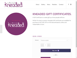 Kneaded Bake Shop gift card purchase