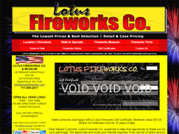 Lotus Fireworks gift card purchase