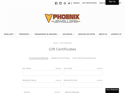 Phoenix Jewellers gift card purchase