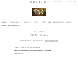 Emerald Creek Craft Supplies gift card balance check