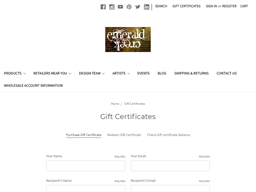 Emerald Creek Craft Supplies gift card purchase