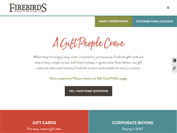 Firebirds gift card purchase