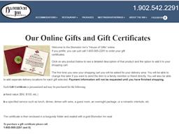 Blomidon Inn gift card purchase
