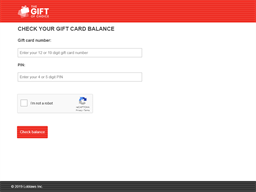 The Gift of Choice gift card balance check