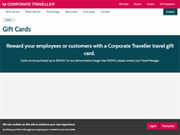 Corporate Traveller gift card purchase