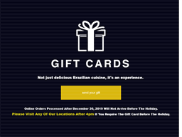 Copacabana Brazilian Steakhouse gift card purchase