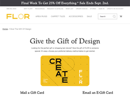 Flor gift card purchase