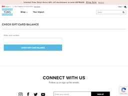 Toms gift card balance check