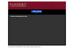 Floyd's 99 Barbershop gift card balance check
