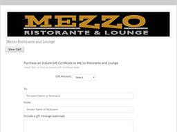 Mezzo Ristorante & Lounge gift card purchase
