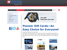 Pioneer Energy gift card purchase