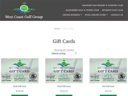 WCGG West Coast Golf Group gift card purchase