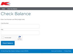 Kmart gift card balance check