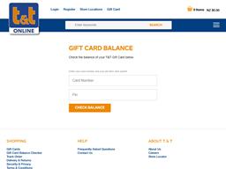 T&T Childrenswear gift card balance check
