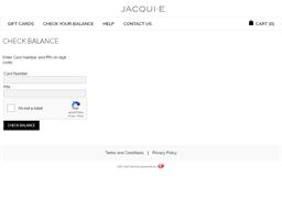 Jacqui E gift card balance check
