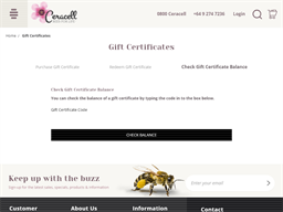 Ceracell gift card balance check