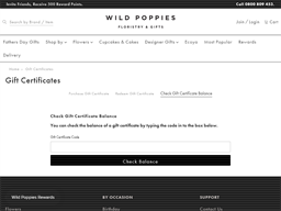 Wild Poppies gift card balance check