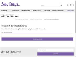 Silly Billyz gift card balance check