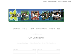 Children of the Pacific gift card purchase