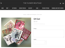 The Flower Boutique gift card purchase