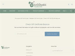 Sustainable Fundraising gift card balance check