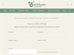 Sustainable Fundraising gift card purchase