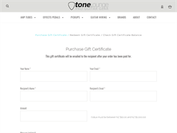 Tone Lounge gift card purchase