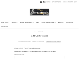 Beggs Musicworks gift card balance check