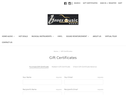 Beggs Musicworks gift card purchase
