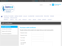 Ionza gift card purchase