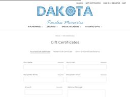 Dakota gift card purchase