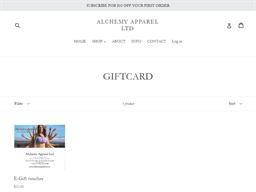 Alchemy Apparel Ltd gift card purchase