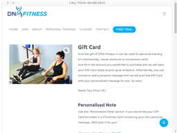 DNA Fitness gift card purchase