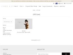 Jamie Kay gift card purchase
