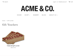 Acme & Co gift card purchase