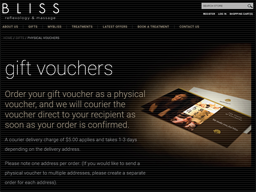 Bliss Reflexology gift card purchase