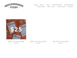 Mediterranean Foods gift card purchase