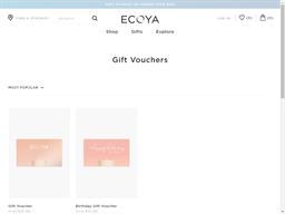 Ecoya gift card purchase