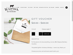Waipawa Butchery gift card purchase