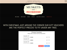 Muskets and Moonshine gift card purchase