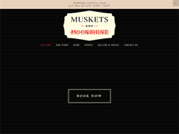 Muskets and Moonshine shopping