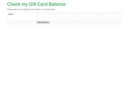 Fresh Berry gift card balance check