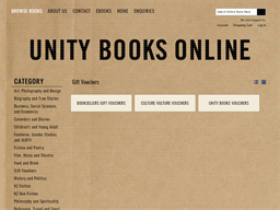 Unity Books Online gift card purchase