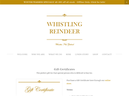 Whistling Reindeer gift card purchase