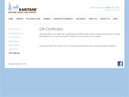 Karitane Nurses and Nannies gift card purchase