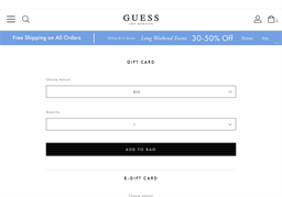 G by Guess gift card purchase