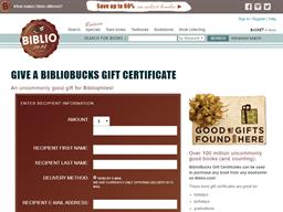 Biblio gift card purchase