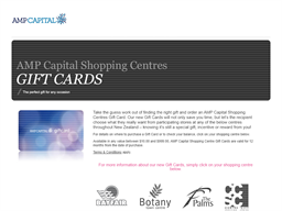 AMP Capital Shopping Centres gift card purchase