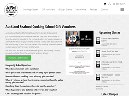 AFM Auckland Seafood School gift card purchase