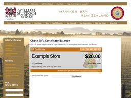 William Murdoch Wines gift card balance check